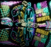 Love smoke robots Лофт в стиле Cyberpunk 0