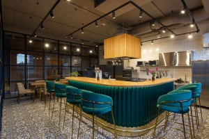 Капсульный отель Q-Block Открытая профессиональная кухня 0